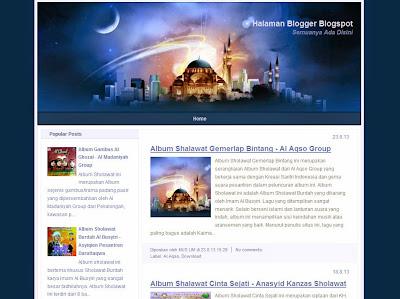 Ramadhan Al-Mubarak Islamic Blogger Template
