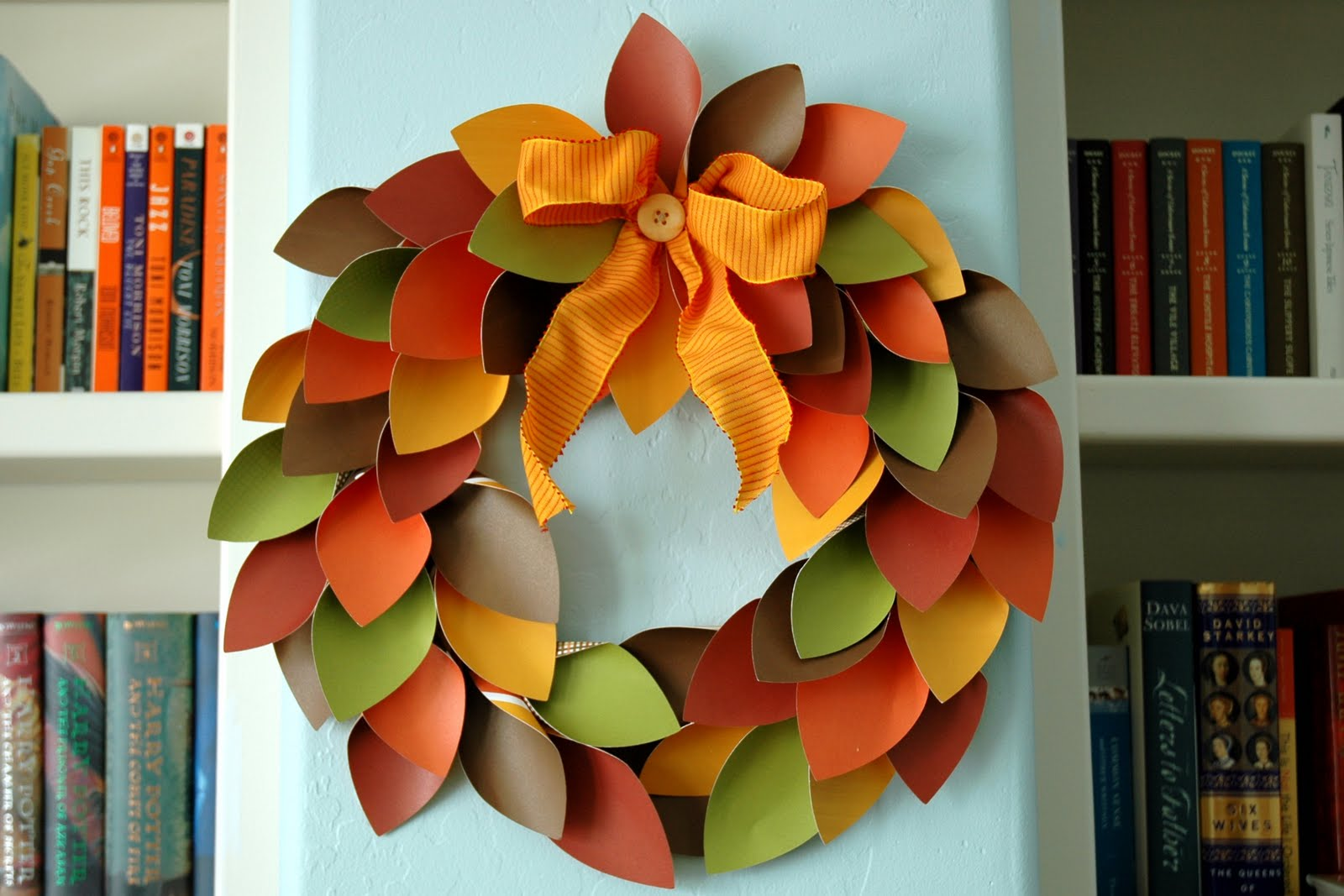 It's Written On The Wall: 10 Fall Wreaths Made From Book