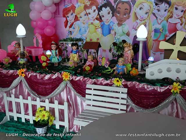 Decoração festa Princesas Disney Baby -  Mesa temática infantil - Aniversário
