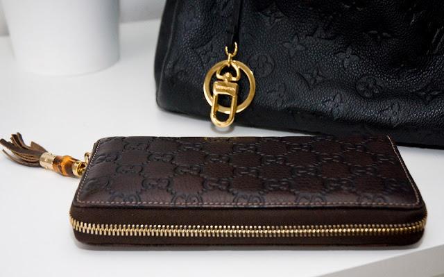 oryginalny skórzany portfel Gucci