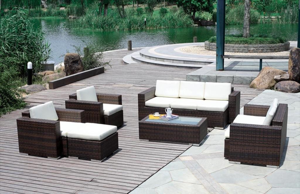 Modernen Patio Möbel Akzente und Zubehör Moderne Terrassen