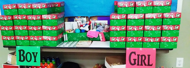 Operation Christmas Child shoebox packing party