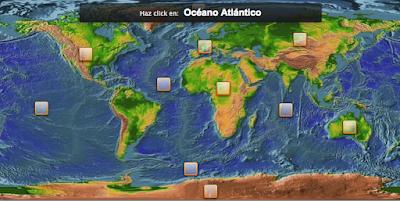 Continentes y océanos para 3º