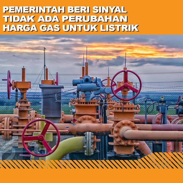 Pemerintah Beri Sinyal Tidak Ada Perubahan Harga Gas Untuk Listrik