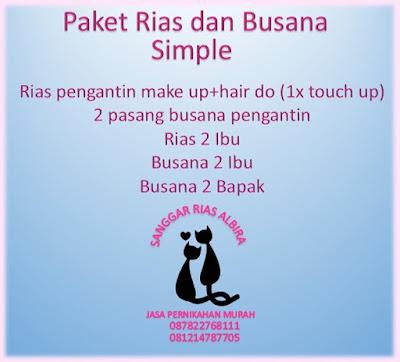 Paket Rias dan Busana Pengantin Simple Albira