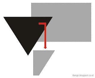 Hasil fungsi Intersect pada corel