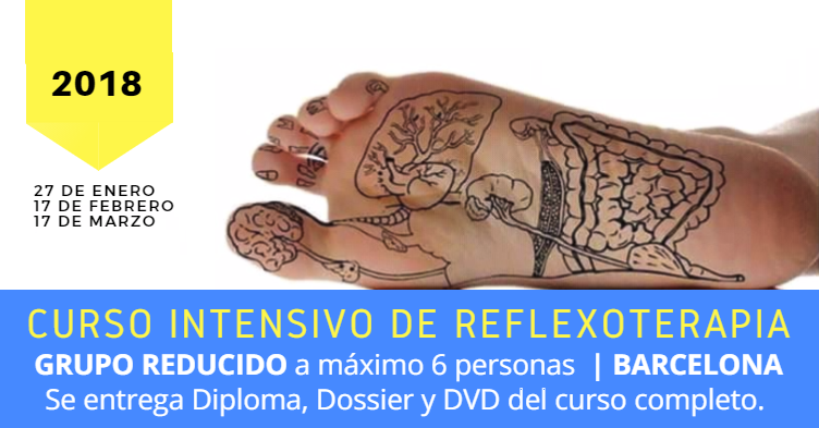 Curso integrado reflexología podal en Barcelona