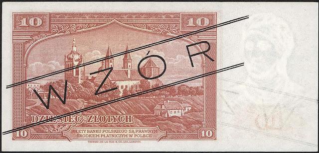 Poland currency 10 Polish złoty banknote bill