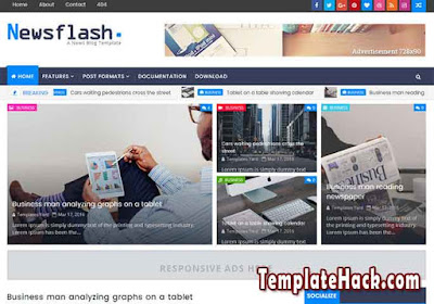 newsflash blogger template