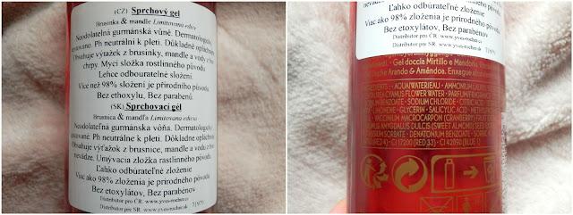 brusinka a mandle sprchový gel, yves rocher recenze