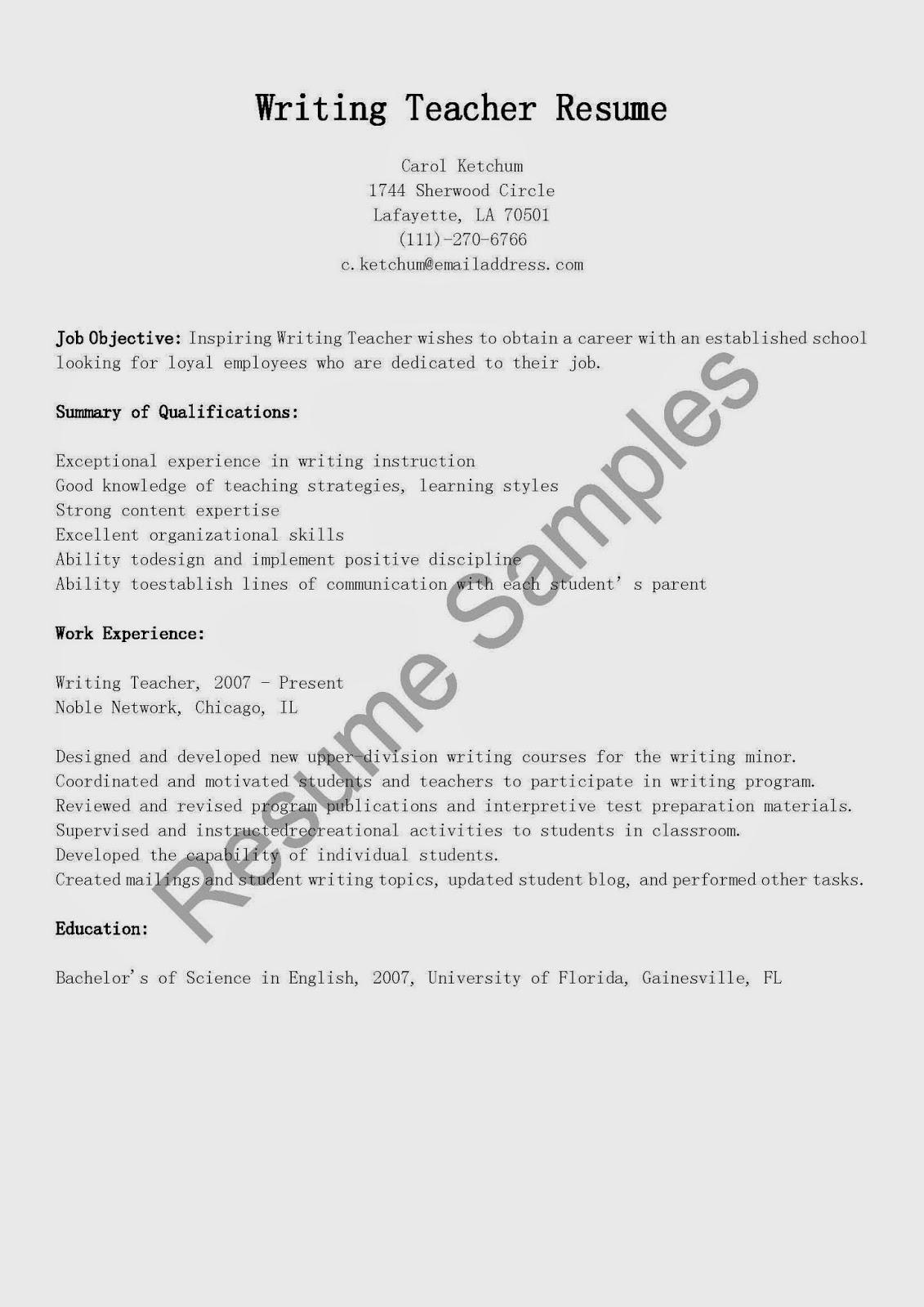 resume sles writing resume sle