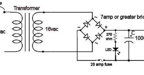 Robert's Tech blog.: Building an 18 Volt Power supply for