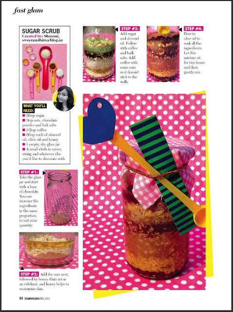 DIY Sugar Scrub Cosmopolitan India April 2013
