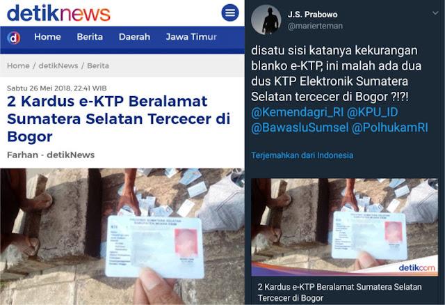 Kritik Tajam Suryo Prabowo Soal 2 Kardus e-KTP yang Tercecer di Bogor