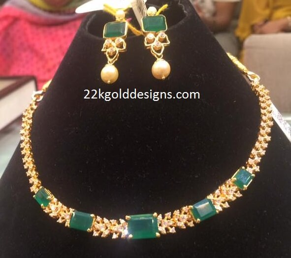20Grams Emerald CZS Necklace