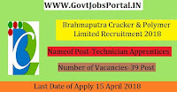 Brahmaputra Cracker & Polymer Limited Recruitment 2018-39 Graduate & Technician Apprentices