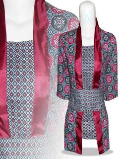 contoh model baju batik pesta wanita