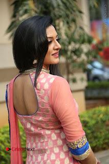 Actress Vimala Raman Stills in Beautiful Pink Salwar Kameez at (ONV) Om Namo Venkatesaya Press Meet  0182.JPG