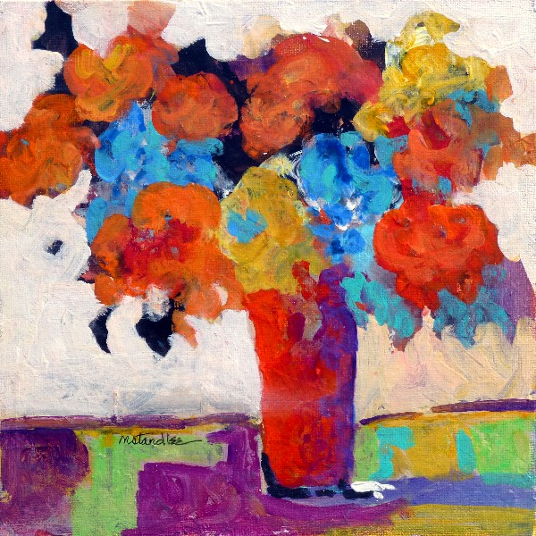 Nancy Standlee Fine Art The Red Vase 13035 Contemporary