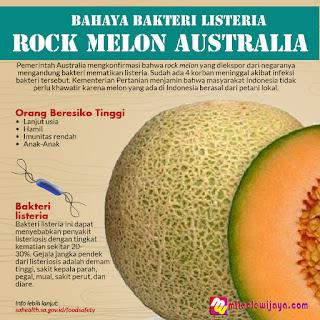 Bahaya Bakteri Listeria Pada Buah Rock Melon Australia