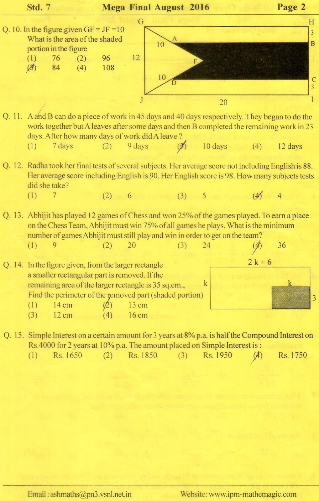 Ipm mega final test paper std vii also preparations for mtse olympiad mat scholarshipcbse icse rh state scholarshipspot
