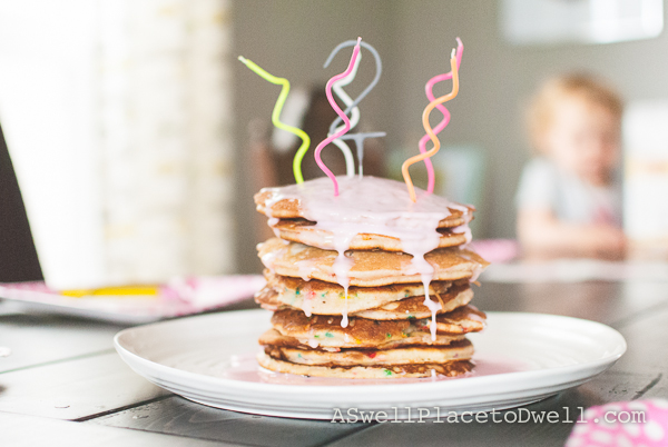 Breakfast for Dinner Party with Pancake Cake @ ASwellPlacetoDwell.com
