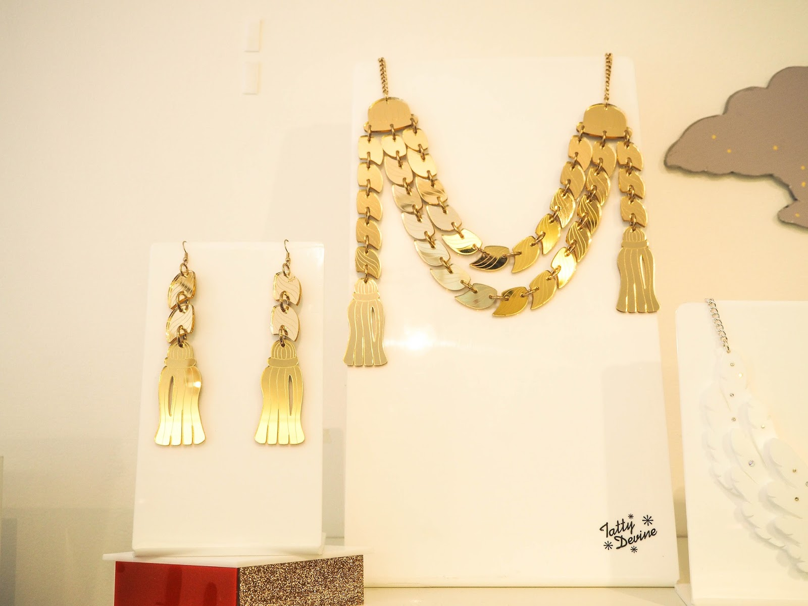 Tatty Devine gold tassels necklace
