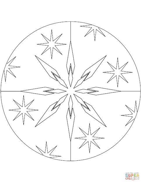 Christmas Mandala With Stars