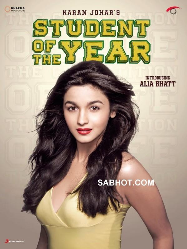 Student Of The Year First Look Posters Ft. Alia Bhatt, Sidharth Malhotra & Varun Dhawan - Sabwood.com