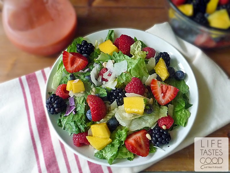 Mango Berry Fruit Salad | by Life Tastes Good is a refreshing salad full of sweet fruit! #LightMeal #Summer