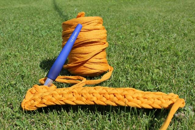 bobina de trapillo a crochet