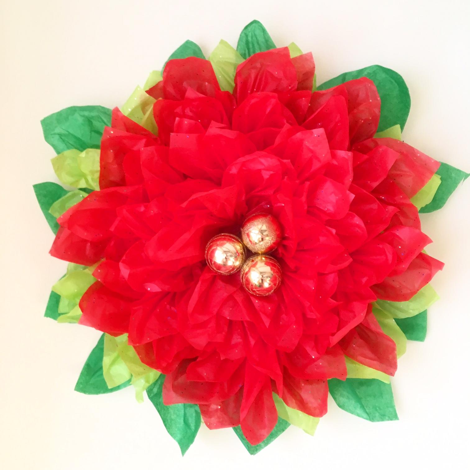 Tissue Paper Pointsettia Paper Flower Tutorial Handmade Paper