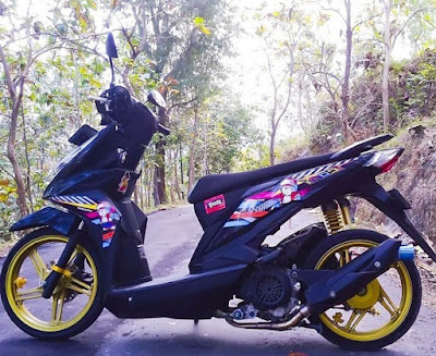Modif Beat FI Standart Dan Paling Simple Warna Hitam