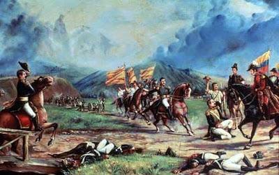 Dibujo alusivo a la Batalla de Boyacá a colores