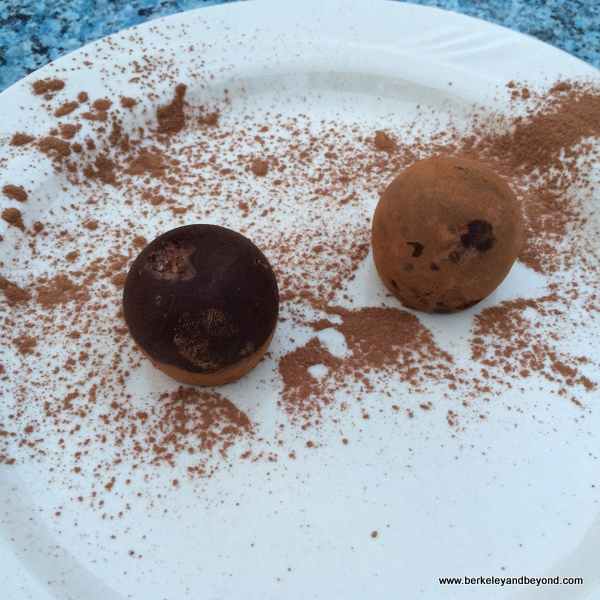 chocolate truffles at Benbow Historic Inn restaurant in Garberville, California