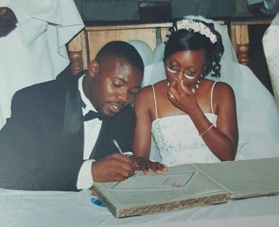 Throwback!! Okey Bakassi & wife pictured signing their marriage certificate 15 years back