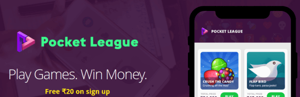 Pocket League App Referral Code: Play Games & win Paytm Cash