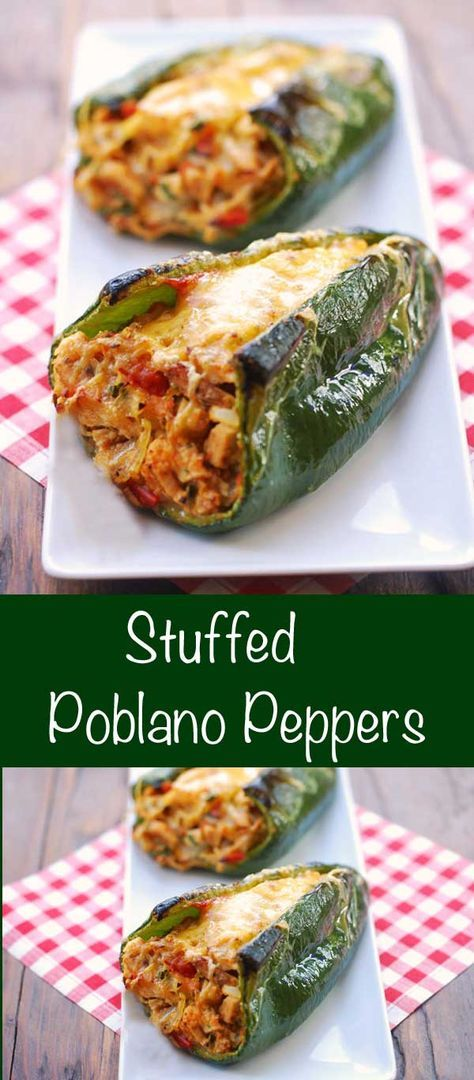 A fiesta of flavors and colors, these stuffed poblano peppers are incredibly flavorful. And they are so pretty! Whenever I make them, everyone raves about them.