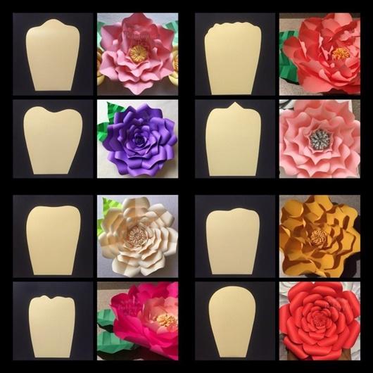 Flores gigantes de papel modelos
