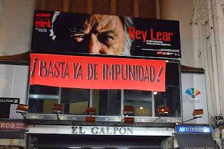 20 Marcha del Silencio. Montevideo. Teatro El Galpón