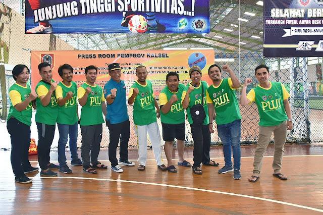 Pesan Paman Birin di Turnamen Futsal Antar Desk Wartawan Kalsel 2018