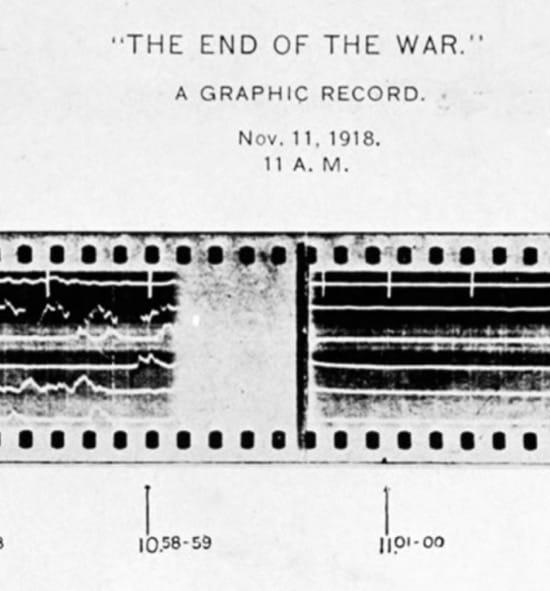 El impresionante cambio del sonido en el final de la Primera Guerra Mundial
