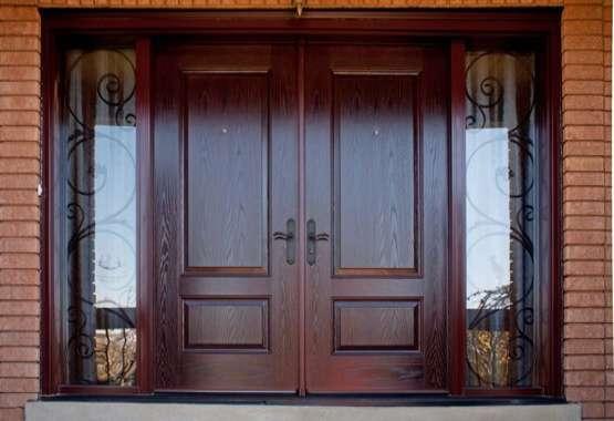 cửa gỗ căm xe- mẫu 6