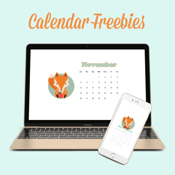 November Calendar Freebie