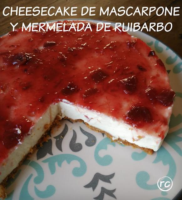 CHEESCAKE-DE-MASCARPONE-Y-MERMELADA-DE-RUIBARBO-SIN-HORNO-BY-RECURSOS-CULINARIOS