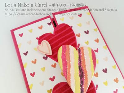 Occasions Catalogue Heart Happiness Satomi Wellard-Independent Stampin'Up! Demonstrator in Japan and Australia, #su, #stampinup, #cardmaking, #papercrafting, #rubberstamping, #stampinuponlineorder, #craftonlinestore, #papercrafting, #handmadegreetingcard, #greetingcards  ##2018occasionscatalog, #hearthappiness , #onlineclassproject, #shattercard, #スタンピン #スタンピンアップ #スタンピンアップ公認デモンストレーター #ウェラード里美 #手作りカード #スタンプ #カードメーキング #ペーパークラフト #スクラップブッキング #ハンドメイド #オンラインクラス #スタンピンアップオンラインオーダー #スタンピンアップオンラインショップ #動画 #フェイスブックライブワークショップ #2018年オケージョンカタログ、#ハートハピネス #オンラインクラスプロジェクト #シャッターカード