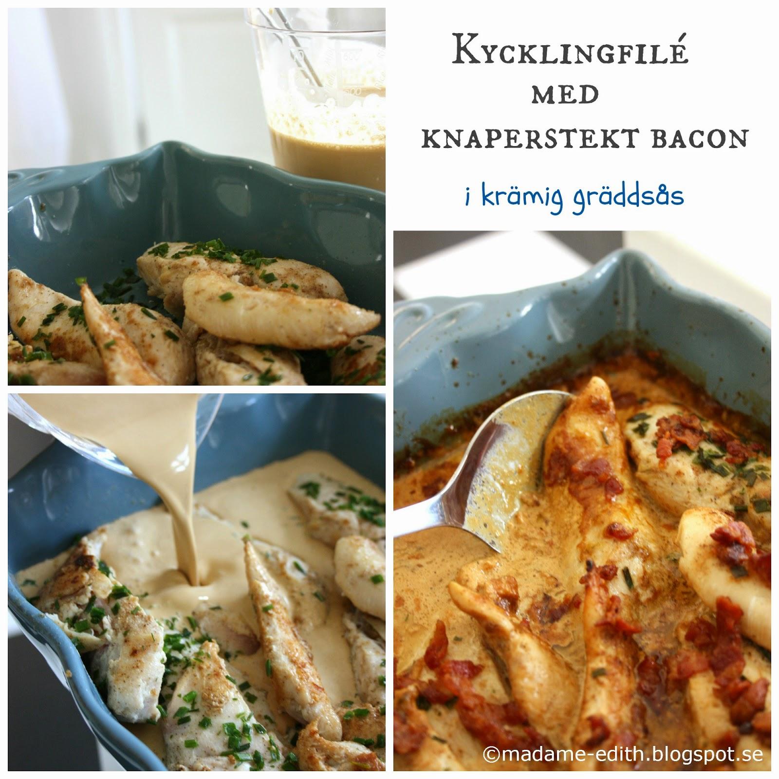recept kycklinglårfile bacon