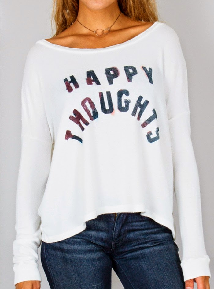 Happy Thoughts Fleece