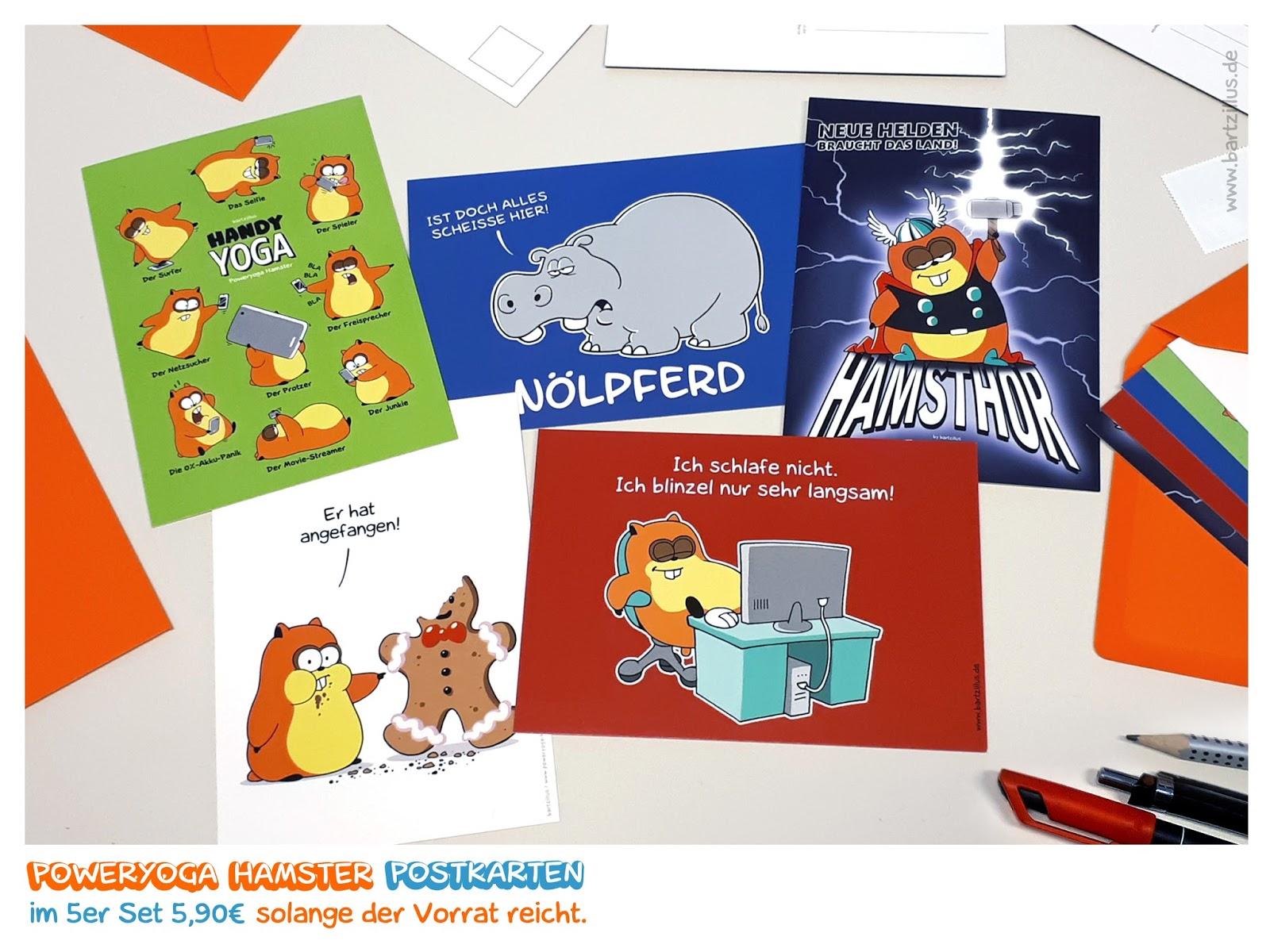Paypal Karte Bestellen.Poweryoga Hamster Postkarten