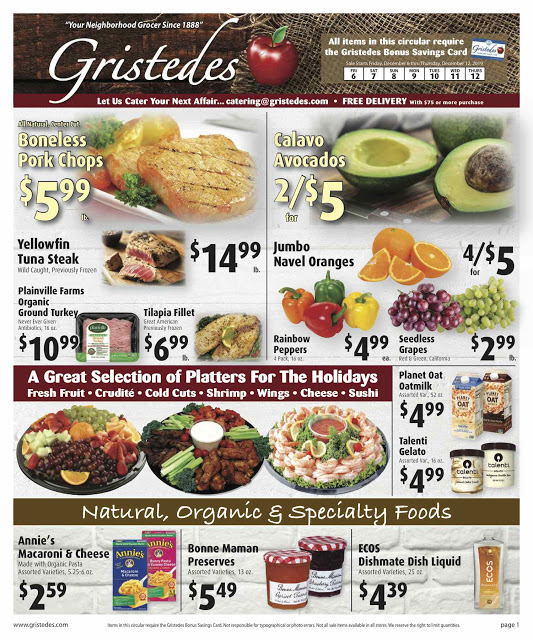 CHECK OUT ROOSEVELT ISLAND GRISTEDES Products, Sales & Specials For December 6 - December 12